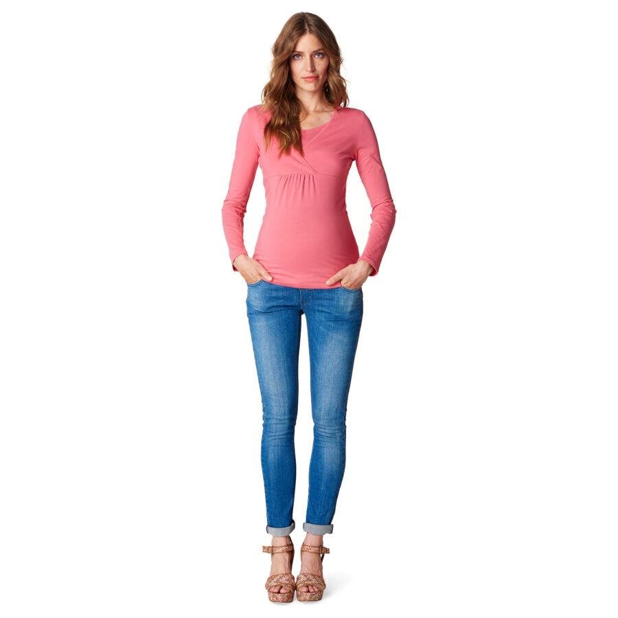 de5618a35c Rózsaszínű szoptatós kismama felső - Esprit - S,M